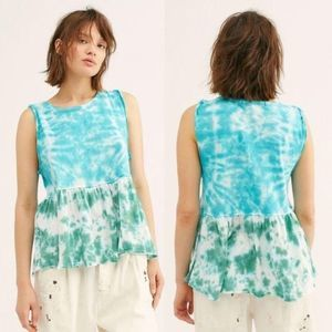 NWT Free People Tie Dye Anytime Tank S